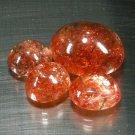 30.36 Ct. Exquisite Orange Natural Sunstone Gemstone Set Loose Gemstone