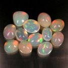 20.4 Ct. Top Play Of Color Natural Opal Cabochon Lot Loose Gemstone With GLC Certify