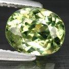 1.22 Ct. Superb Luster Green Russian Demantoid Garnet Loose Gemstone With GLC Certify