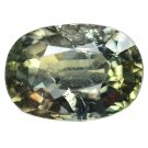 3.165 Ct. Rare Unheated Top Green Sapphire Oval Loose Gemstone With GLC Certify