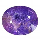 5.53 Ct. Rich Purple Unheated Sapphire Oval Cutting Loose Gemstone With GLC Certify