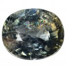 5.34 Ct. Unheated Natural Green Color Sapphire Oval Loose Gemstone With GLC Certify