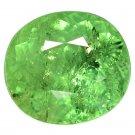 3.09 Ct. Lustrous Best Green Namibian Demantoid Garnet Loose Gemstone With GLC Certify