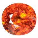 2.18 Ct. Elegant Natural Top Orange Mandarin Garnet Loose Gemstone With GLC Certify