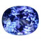 3.07 Ct. Natural Tanzanite Oval AAA Color Top Luster Loose Gemstone With GLC Certify