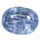 3.49 Ct. Genuine Top Blue Sapphire Oval Cut Unheated Loose Gemstone With GLC Certify