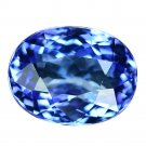 3.68 Ct. Vivid Color Natural Blue Tanzanite Loose Gemstone With GLC Certify