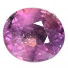 3.53 Ct. Sparkling Dark Purple Natural Unheated Sapphire Loose Gemstone With GLC Certify