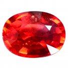 1.5 Ct. Rare Orangy Red Natural Sapphire Loose Gemstone With GLC Certify