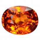 4.28 Ct. Awesome Luster Mandarin Garnet Oval Cut Loose Gemstone With GLC Certify