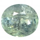 3.16 Ct. Lovely Oval Green Color Unheated Sapphire Loose Gemstone With GLC Certify