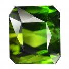 12.77 Ct. Octagon Flawless Green Tourmaline Loose Gemstone With GLC Certify