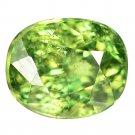 1.23 Ct. Stunning Luster Green Demantoid Garnet Loose Gemstone With GLC Certify