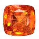 11.88 Ct. Awesome Luster Mandarin Garnet Brilliant Cut Loose Gemstone With GLC Certify
