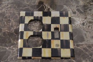 Double Outlet Single Toggle Switch Plate made w/Mackenzie Childs Tissue Paper