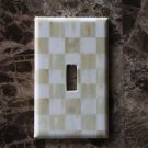 Switch Plate Outlet Covers made w/Mackenzie Childs Parchment Check