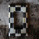 Single Rocker Switch Plate made w/Mackenzie Childs Courtly Check Tissue Paper