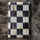 Blank Plate Outlet Cover made with Mackenzie Childs Courtly Check Tissue Paper