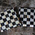 Double 2 Toggle Switch Plate made w/Mackenzie-Childs Courtly Check Tissue Paper