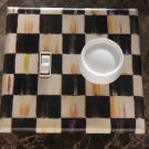 Double Toggle Switch Plate made w/Mackenzie-Childs Courtly Check Tissue Paper
