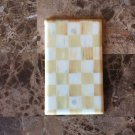 Blank Plate Outlet Cover made with Mackenzie Childs Parchment Check Paper
