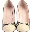 RED Valentino Bicolor Cap Toe Heels 12val919 Pumps
