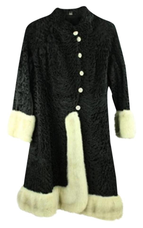 Astrakhan And Mink Furml4 Fur Coat