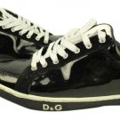 Dolce And Gabbana Black Suede And Patent Leather Trim Sneaker Lbslm94 Black/ White Athletic Shoes