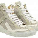 Maison Margiela Mm6 High Top Suede Patent Leather Sneakers Size 39 Mmsty01 White Grey Athletic Shoes