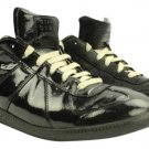 Maison Margiela Maison Leather/ Lbslm35 Black Patent Leather/ Suede Athletic Shoes