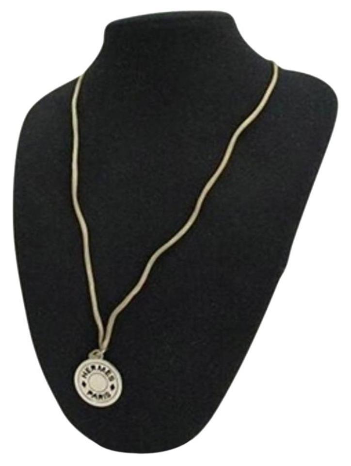 Hermès Necklace H Logo Pendant Charm HERLM33 162695