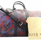 Louis Vuitton Damier Camouflage Keepall Bandouliere 6lva1020 Travel Bag