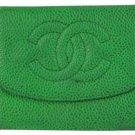 Chanel Green Caviar CC Logo Walet CCWLM8