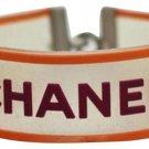 Chanel Clover Orange & Magenta Clear Rubber Bracelet CCJY27 33CCA606