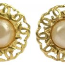 Chanel CC Logo Pearl Clip On Earrings CCJY20 44CCA606