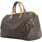 Louis Vuitton Monogram Speedy 35 207542 Travel Bag
