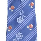 Ermenegildo Zegna Striped Floral Rose 100% Silk EZTTY01