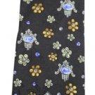 Leonard Paris 100% Silk Floral Brown Tie LPTTY01