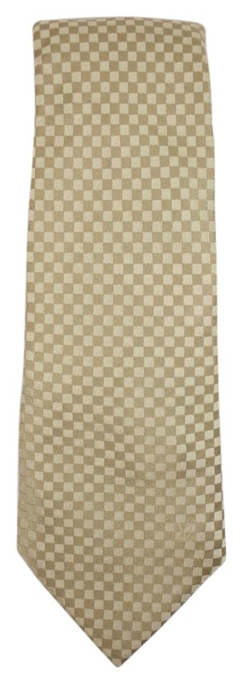Louis Vuitton Beige Silk Tie JLVLM147