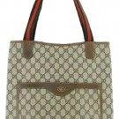 Gucci Monogram Gg 207963 Dark Brown Tote Bag