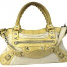 Balenciaga Balsl09 Limited Edition The City Hand Bianco Pony Ivory Satchel