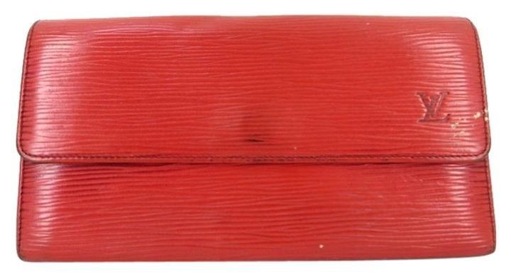 Louis Vuitton Red Epi Sarah Wallet ELVLM38 B#173674