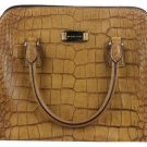 Michael Kors Gia Crocodile Embossed Tan Mkml6 Satchel