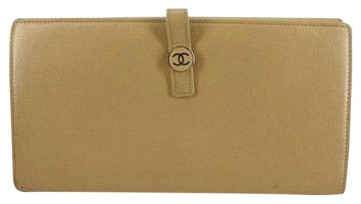 Chanel Button Line Classic Flap Continental Wallet CCFLM2
