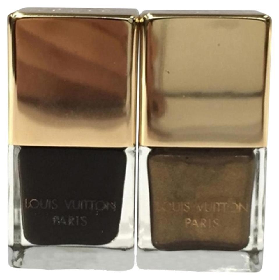 Louis Vuitton Damier Ebene Brown Gold Nail Polish 1M01