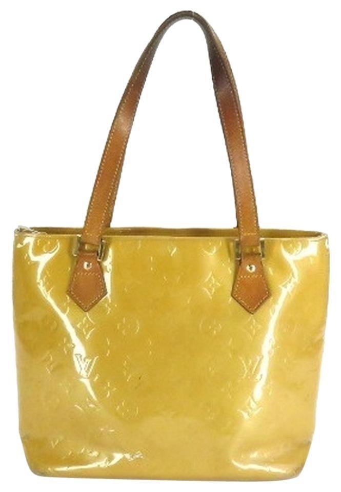 Louis Vuitton Vernis Houston Lvav67 Yellow Tote Bag