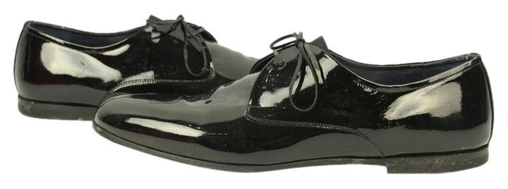 Salvatore Ferragamo Men's Patent Leather Rogan Oxfords Sfjy2 Formal Shoes