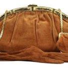 Judith Leiber Kisslock (w/ Coin Pouch & Gloves) Jlty01 Cognac Brown Clutch