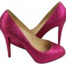 Christian Louboutin Fifi Glitter Pink Clblm3 Fucsia Pumps