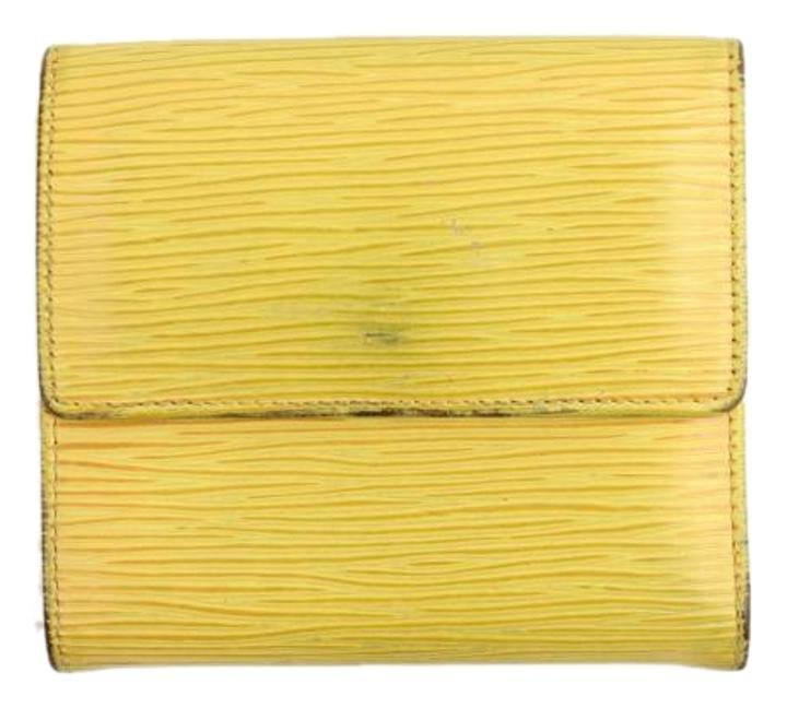 Louis Vuitton Yellow Trifold Wallet 32LVA909
